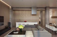 ... salon moderne design par Alexandra Fedorova. «Ce qui est moderne, le