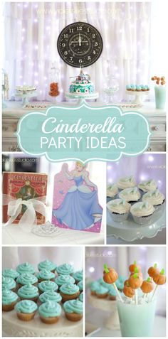 A lovely Cinderella girl birthday party with a lighted backdrop and pumpkin cake pops!  See more party ideas at CatchMyParty.com!