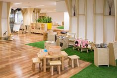 SJB | Projects - Guardian Childcare Centre Playground Design, Indoor Playground, Daycare Design, School Design, Micro Creche, Daycare Rooms, Daycare Nursery, Toddler Playroom, Nursery School