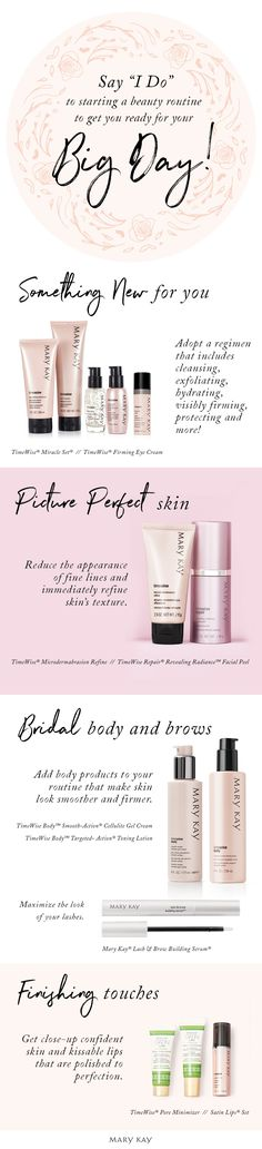 Dreaming of glowing skin on your wedding day? We've got you covered with skin care for every skin type!   Mary Kay