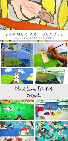 Maud Lewis Folk Art Projects | Deep Space Sparkle #arteducationIllustration #arteducationInfographic #arteducationForKids #arteducationElementary #arteducationPrintables
