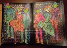 designed by Caroline Duncan: Art Journaling with Dylusions ~ stampingsandinklings.blogspot.com