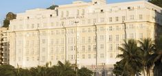 Rio's legendary Copacabana Palace Hotel, overlooking Copacabana Beach.