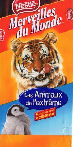 """Miam miam le chocolat """"Merveilles du monde"""" et ses fiches """"animaux"""" !"""