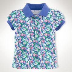 Floral Cotton Polo Shirt - Baby Girl Polo Shirts - RalphLauren.com