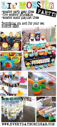 Everyday Mom Ideas: Little Monster Bash -Birthday Party Ideas