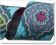 """2"""" Gray on Blue Brocade - Amy Butler picture"""
