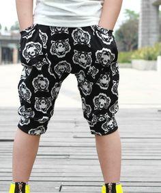 2014 Summer New Arrival Fashion TigerPattern Boy Children Harem Fifth Pants