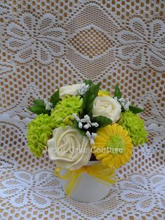 - bouquet made for a book club luncheon.  Silk fillers/leaves, 1dz mini.  TFL