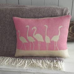 flamingo cushion and throw collection by rustic country crafts | notonthehighstreet.com