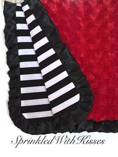 Red minky baby blanket with black satin and black and white stripes, baby boy blanket, red baby blanket by SprinkledWithKisses on Etsy https://www.etsy.com/listing/233086057/red-minky-baby-blanket-with-black-satin