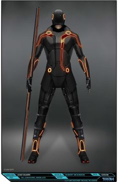 "Concept art of CLU's guard by Steve Jung from ""Tron: Legacy"" (2010)."