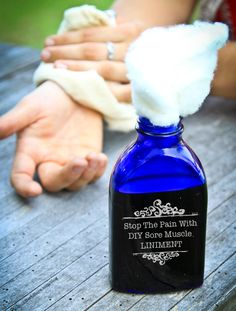 Stop The Pain With A DIY Sore Muscle Liniment | Bulk Herb Store Blog | Got sore muscles from summer fun? Here's a sore muscle liniment that will help bring deep relief to tired, achy muscles.