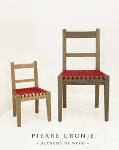 The newest and smallest member of the Pierre Cronje furniture family, the Klein Karoo chair.