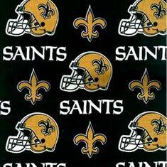 NFL Football New Orleans Saints Cotton Fabric