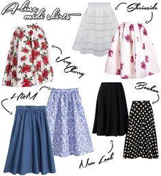 Where To Buy | Midi Skirts - A-line & Pencil | Trend | More on www.redsonjafashion.com