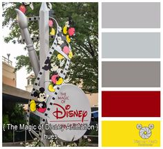 Here are the colors hues of The Magic of Disney Animation at Disney's Hollywood Studios in Walt Disney World.