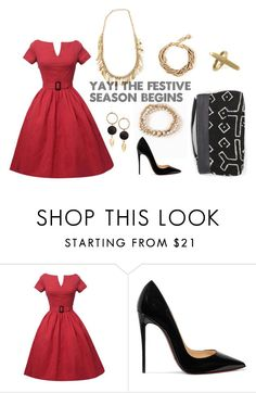 """""""I can Hear Bells"""" by kateboston on Polyvore featuring Christian Louboutin"""