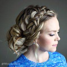 """Happy Fri-Yay! Link for this tutorial in my bio! #hairstyles #instabraid #ighair #hairandmakeupvids"" Photo taken by @missysueblog on Instagram, pinned via the InstaPin iOS App! http://www.instapinapp.com (04/10/2015)"