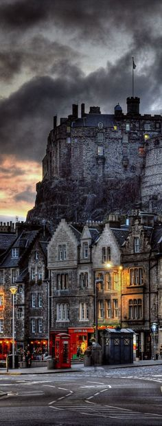 Edinburgh Castle ~ Scotland. What an incredible photo and a permanent reminder of how beautiful Scotland is!