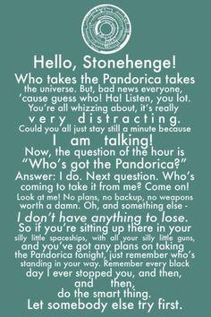 Pandorica speech- this made me love Matt Smith!!