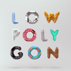 Low Poly Font / Mount | Design Graphique