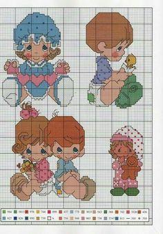 Precious Moments, Cross Stitch Charts, Cross Stitch Patterns, Cross Stitching, Cross Stitch Embroidery, Cross My Fingers, Stocking Pattern, Canvas Patterns, Little People