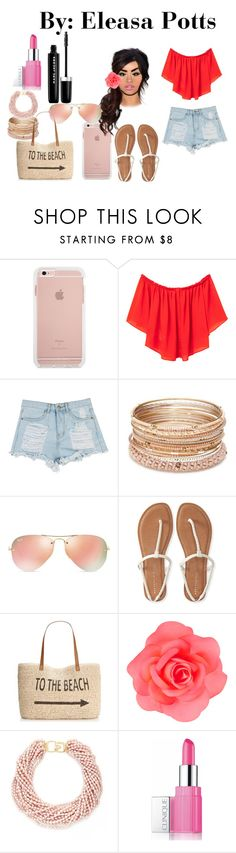 """Untitled #41"" by eleasapotts123 on Polyvore featuring MANGO, Red Camel, Ray-Ban, Aéropostale, Style & Co., Accessorize, Kenneth Jay Lane, Clinique and Marc Jacobs"