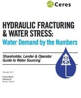 Hydraulic Fracking & Water Stress Cover