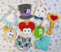 Ali Bee's Alice in Wonderland Cookies - set 1 (think i like these better)