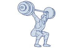 Weightlifter Lifting Barbell  by patrimonio on @Graphicsauthor
