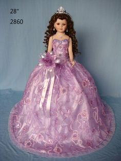 W Fine Porcelain China Diane Japan Info: 6624925845 Lavender, Lilac, Victorian Dolls, Quinceanera, Fashion Dolls, Baby Dolls, Ball Gowns, Formal Dresses, Doll Dresses