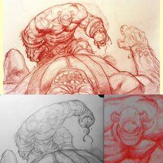 I spy with my little eye… #battleberzerkerbalto #art #fantasy #cyclops #eyes (Taken with Instagram)