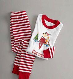 fc702629a1 Elf on the shelf family matching pajamas Family Christmas Pajamas