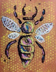 Pop Art Projects For Kids Bubble Wrap Ideas Oil Pastel Techniques, Drawing Techniques, 2nd Grade Art, Second Grade, Ecole Art, Insect Art, Bee Art, School Art Projects, Kindergarten Art