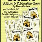 Your students will have so much fun playing Beehive, they won't even realize they are practicing their addition and subtraction math facts! Older or advanced students can use multiplication, addition and subtraction to play. The game is for 2-4 players. All they need to play is a deck of Beehive cards and a pair of dice. I suggest you print the cards on cardstock, a thicker paper, and laminate them for years of use.