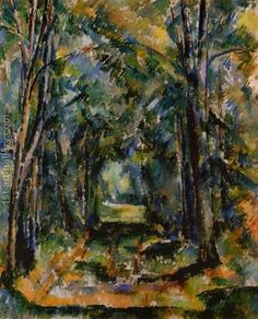The Alley at Chantilly 1888 Paul Cezanne woods forest art for sale at Toperfect gallery. Buy the The Alley at Chantilly 1888 Paul Cezanne woods forest oil painting in Factory Price. Paul Gauguin, Cezanne Art, Paul Cezanne Paintings, Art Sur Toile, Oil Painting Reproductions, Claude Monet, French Artists, Oeuvre D'art, Art World