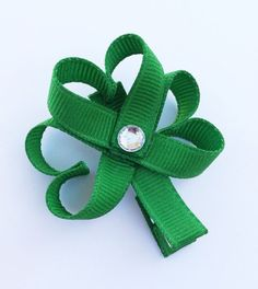 St Patrick or St Patty's Day Shamrock Ribbon by leilei1202 on Etsy, $3.50