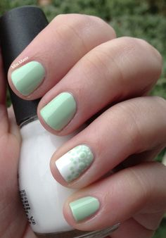 Miscellaneous Manicures: Minty Fresh Nails