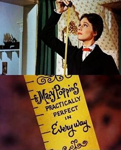 """hmm... exactly as i suspected! Mary Poppins, practically perfect in every way!"""