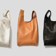 leather shoppers Pinned for FarOut www.faroutny.com, @faroutny #faroutny Style, Style Inspiration, Fashion, New York, L.A., Design