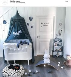 Beautiful nursery 💙 Play & Go Panda the perfect storage bag for your kids toys 🐼👌🏻 Check out for more beautiful children's room… Baby Bedroom, Baby Boy Rooms, Baby Boy Nurseries, Nursery Room, Girls Bedroom, Nursery Decor, Bedroom Decor, Bedrooms, Baby Boy Bedroom Ideas