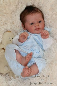 Jacqueline Kramer*Reborn* Baby Larry by Natali Blick*So cute!
