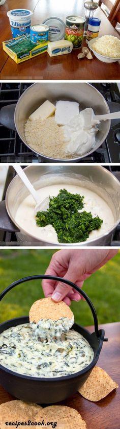 The Best Spinach & Artichoke Dip