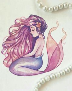 Get mermaid drawings HD Wallpaper [] asugio-wall. Mermaid Artwork, Mermaid Drawings, Mermaid Tattoos, Mermaid Paintings, Mermaid Sketch, Art Drawings Sketches, Cute Drawings, Art Du Croquis, Art Mignon