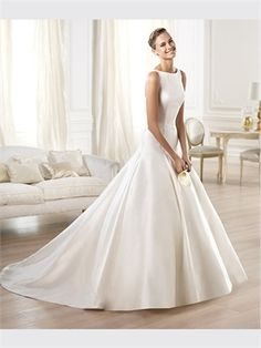 Ball Satin 2014 Wedding Dresses