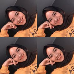 live life in warm yellows 🐥🌻⭐️🌞🌜🍯 Selfie Tips, Cute Selfie Ideas, Selfie Poses, Selfies, Hijabi Girl, Girl Hijab, Ulzzang Fashion, Ulzzang Girl, Hijab Makeup