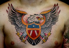 eagle chest by Myke Chambers Tattoos, via Flickr