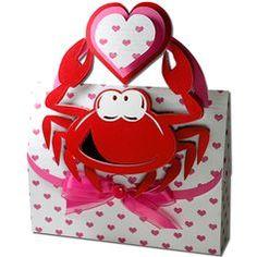 JMRush Designs: Crab Valentine Handled Box