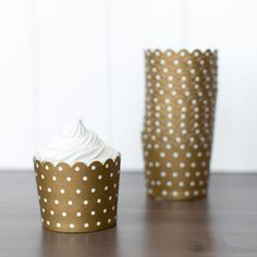 Gold Polka Dot Baking Cups | The TomKat Studio Shop